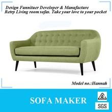 Retro fabric 3 seater sofa for home furniture