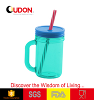 450ml plastic transparent colorful cup