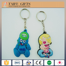 Promotional custom shaped soft pvc rubber key chain