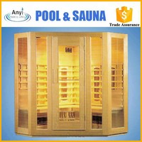 Outdoor Glass Commercial Sauna Rooms