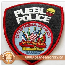high quality laser cut woven patch with heat-seal backing