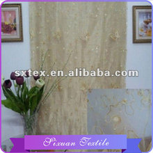 Most popular For home-use Fashion Line beaded sheer curtain
