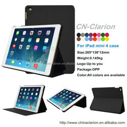Top Selling Smart Leather Covers Case for iPad mini 4 , Black