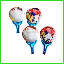 cartoon print sticks hand balloon