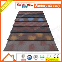 Shingle Wanael roof tile factory/wood house roof/colorful stone coated metal roofing sheet Promotion