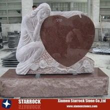 European Style Memorial Commemorate Usage Heart Design Angel Antique Chinese headstone