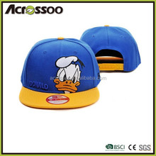 Child Trucker flap Visor Snapback Adjustable Cap With Duck Embroidery