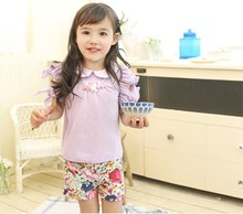 PHELFISH summer 13715 Korean brand children clothing girls t shirt short-sleeved T-shirts Guangdong foshan