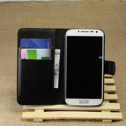 Hot Sale Lichee Pattern Stand Flip Leather Case for samsung S4/I9500