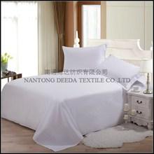 100% cotton plain white hotel bed sheets