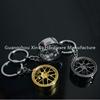 Hot sale car parts wheel keychain ,BBS wheel tire keyring /key holder