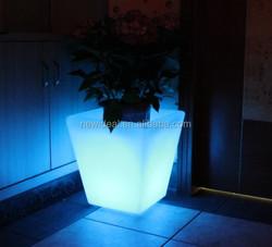 2015 New Ideal rechargeabale 16 color change decorative led flower pots for sale (NJ1555)