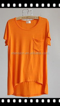 The Best Quality Plain Plus Size Women Clothing Casual Shirt With Blank