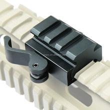 1/2inch Half Inch Mini Riser Block Mount for Picatinny Rails with Quick Detach QD Cam Lever Lock MT007
