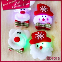 Europe latest hot sell party decoration christmas snowman design plush led light toy for childrens