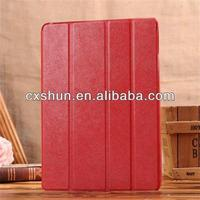 Factory wholesaler smart cover ipad air case leather with four fold
