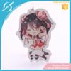 Hot selling beauty acryilc keychain/ plastic key holder