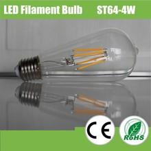 UL CE RoHS New 360 degree E27 ST64 LED Filament Bulb 2W 4W 6W 8W, LED Filament Light