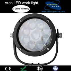 IP67 flood spot led lights black silver aluminum housing 45w round led work light