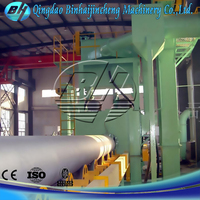 GW steel pipe shot blasting machine for inner wall descaling