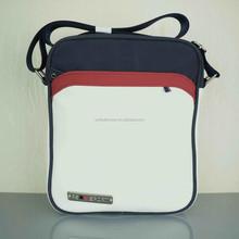 OEM custom design leather one shoulder strap sports bag for men made in China 2014