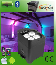 With Mobile Phone Control RGBWAUV LED Flat Par Unplugged Remote Control thin dj light
