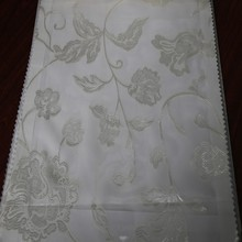 Beautiful Turkish polyester jacquard flower voile sheer curtain for window garden