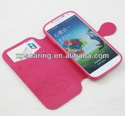 for Samsung Galaxy S4 I9500 leather case with card holster