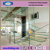 Lowest Factory Price 8mm flat clear tempered glass for stairs /toughened glass