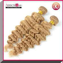 2014 ali express Qingdao factory price cheap brazilian hair weave blonde and brown