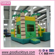 The palm trees bounce inflatable slide combo,funny bouncy slide for kids play