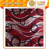 100%Polyester Bronzed Flocking Silk Velvet for Upholstery