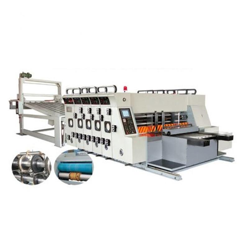Impresora flexográfica ranuradora troqueladora apilador ranuradora de impresión de la máquina de corte