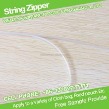 3.8mm PE Press To Close Reclosable String Zipper for Fruit Bag