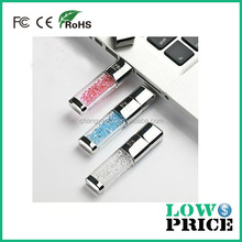 Hot sale free sample crystal usb 2.0 flash drive/pen drive 32gb for girl
