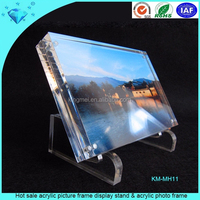 Hot sale acrylic picture frame display stand & acrylic photo frame