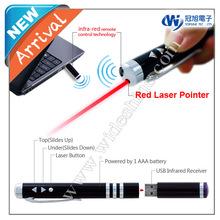 iR100 USB wireless Remote laser pointer presenter pen , laser presenter high power laser