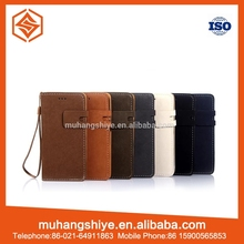Hot sale OEM/ODM leather flip mobile phone case for iphone 6 case