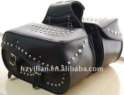 Leather Motorcycle Saddle bags for Harley Davidson style motobike