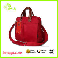 portable women genuine leather briefcase