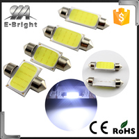 Auto car led light COB 12SMD led licence plate auto festoon dome led lights BA9S adapters led Festoon
