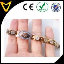 Fashion women bracelet designs, colorful CZ inlay stainless steel bracelet promotional women chain gift,beautiful women bracelet