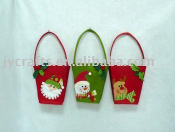 Reindeer felt candy bag buy candy bag promotional bag gift bag
