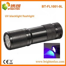 Factory Wholesale CE Aluminum Material Bright Cheap Price 390-395nm Blacklight UV LED Torch Light For Pet Stains Urine and Vomit