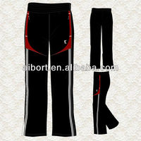 Unisex latest plus size polyester sports pants/trousers in Xiamen