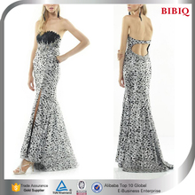ostrich feather evening dress black feather dresses for cheap christmas party formal evening dress mermaid bling wedding dresses