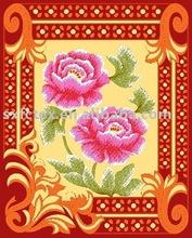 Patterned Big Flower Polar Fleece Blanket,Fabric