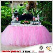 Wholesale fancy mesh table skirt for wedding