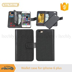two mobile phone leather phone cases for iphone 6 plus for fancy leather flip case for iphone6 5.5'' case