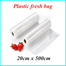 20cm*500cm 1 rolls of vacuum storage bag plastic wrap fresh piece sealer transparent for selling goods packaging